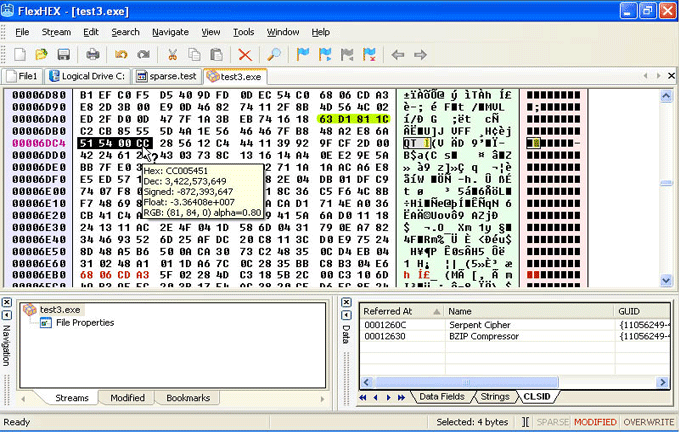 FlexHex Hex Editor: Binary Hexadecimal Editor  View and Edit