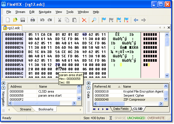 FlexHex Binary Hex Editor Screenshots: Fast Hex Disk Editor