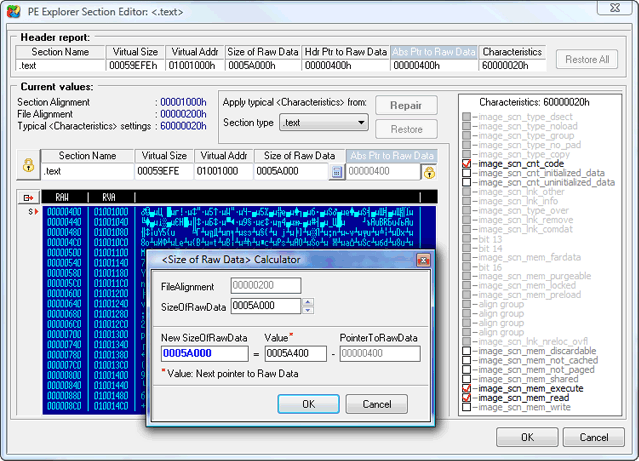 exe file header
